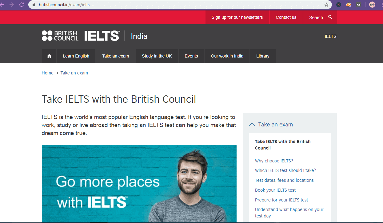 how to book ielts slot